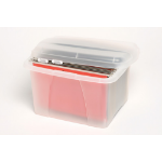 MARBIG OFFICE IN A BOX CRYSTALFILE PORTA BOX W/FILES CLEAR ( EACH )