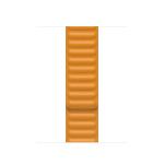 Apple 40mm California Poppy Leather Link - S/M Band Orange