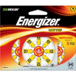 Energizer Hearing Aid EZ Turn & Lock 10 (24 pack) Zinc-Air 1.4V