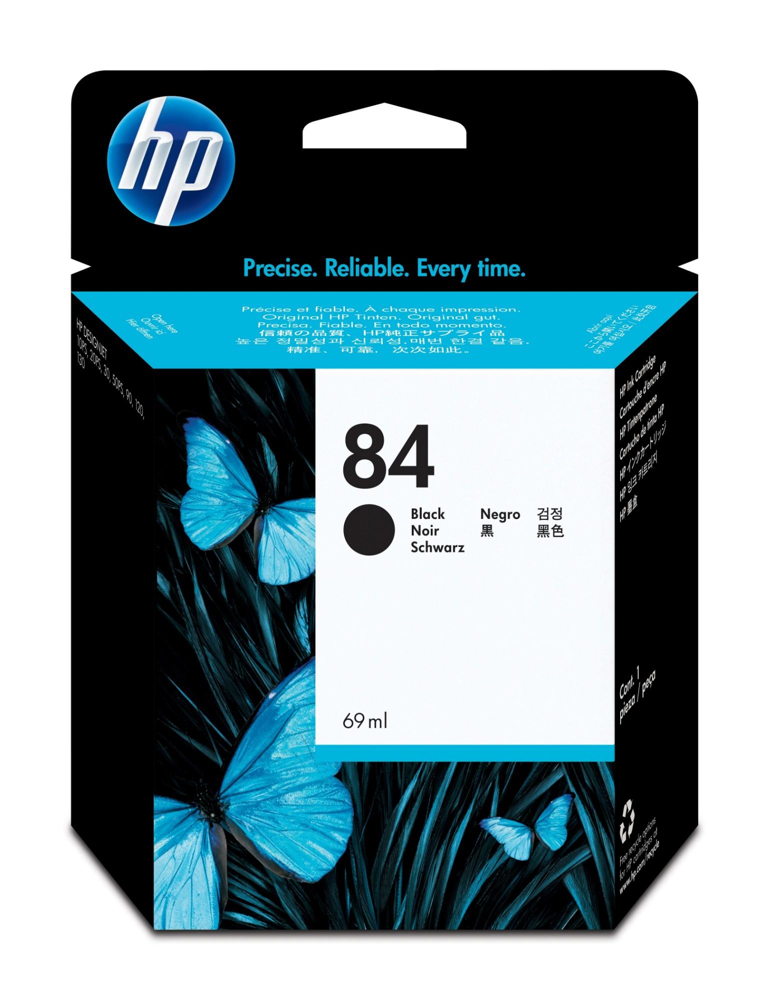 HP 84 Origineel Zwart