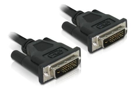 DeLOCK DVI 24+1 Cable 0.5m male/male DVI cable DVI-D Black