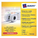 Avery PLR1226 Price tag White 15000pc(s) self-adhesive label