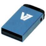 V7 Nano USB 2.0 Flash Drive 32GB Blue