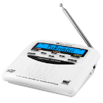 Midland WR120B Clock White radio