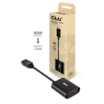 CLUB3D CAC-1085 cable gender changer Displayport 1.4 HDMI™2.1 Black
