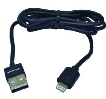 Duracell USB5012A 1m USB Lightning Black mobile phone cable