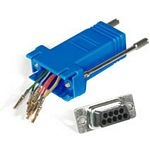 C2G RJ45/DB9M Modular Adapter RJ45 DB9 M Blue cable interface/gender adapter