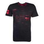 Nintendo NES Controller Super Power T-Shirt, Male, Small, Black/Red (TS644124NTN-S)