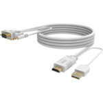 Vision TC 2MHDMIVGA video cable adapter 2 m VGA (D-Sub) + 3.5mm HDMI + USB White