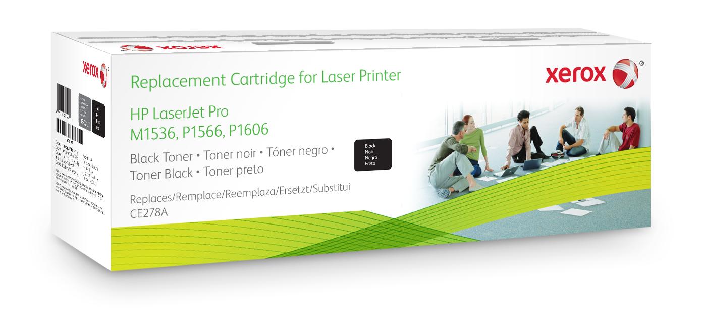 Xerox Cartucho de tóner negro. Equivalente a HP CE278A. Compatible con HP LaserJet M1536 MFP, LaserJet P1566, LaserJet P1606