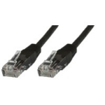 Microconnect Cat5e UTP 0.5m 0.5m Black networking cable