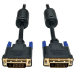 Tripp Lite DVI Dual Link Cable, Digital TMDS Monitor Cable (DVI-D M/M), 1-ft.