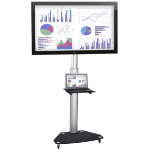 EASILIFT Dynamic Height Adjustable Portable TV Stand ideal for Interactive Display Panels - 33-60kg