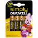 Duracell Simply AA 4 Pack