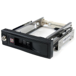 StarTech.com 5.25in Trayless Hot Swap Mobile Rack for 3.5in Hard Drive HSB100SATBK