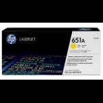 HP 651A originele gele LaserJet tonercartridge