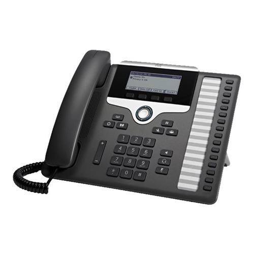 Cisco IP Phone 7861 - VoIP phone - SIP, SRTP - 16 lines - charcoal - remanufactured