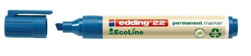 Edding 22 EcoLine permanent marker Chisel tip Blue
