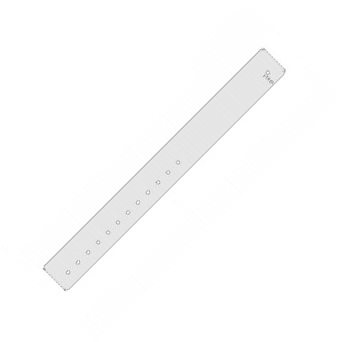 Zebra Wristband, Polypropylene, 1.1875x11in (30.2x279.4mm), Direct thermal, Z-Band Quickclip, Clip closure