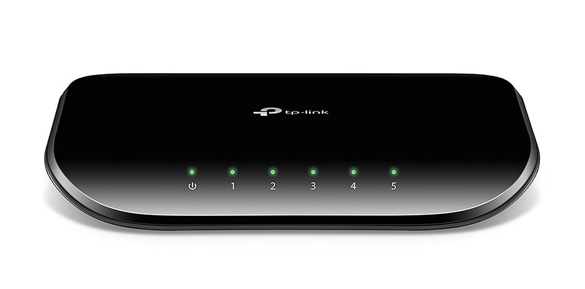 TP-LINK TL-SG1005D Unmanaged network switch Gigabit Ethernet (10/100/1000) Black network switch