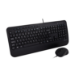 V7 Full Size USB Keyboard with Palm Rest and Ambidextrous Mouse Combo - UK