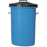 Blue Heavy Duty Cylindrical Storage Bin With Lid 311962