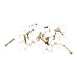 Videk 7699-5 Metallic,White 100pc(s) cable clamp