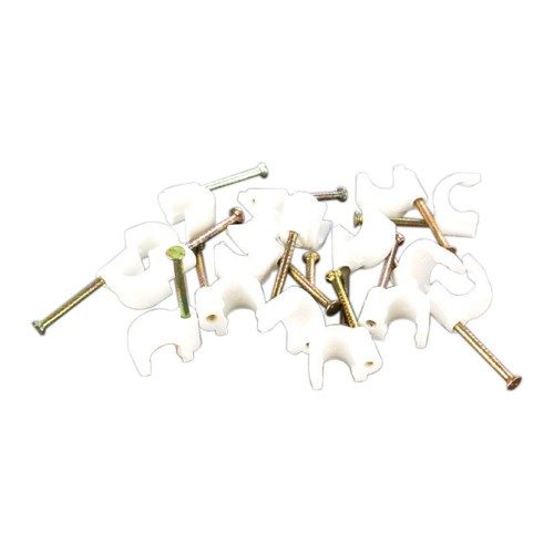 Videk 7699-5 cable clamp Metallic, White 100 pc(s)