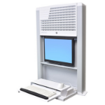Ergotron StyleView Sit-Stand Enclosure Wall-mounted CPU holder White 60-610-062
