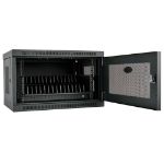 Tripp Lite 16-Device USB Charging Station Cabinet with Sync for iPad and Android Tablets, Wall-Mount Option, Black