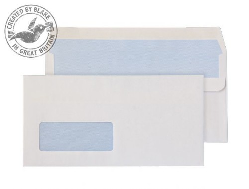 Blake Purely Everyday White Window Self Seal Wallet DL 110X220mm 90gsm (Pack 50)