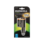 Duracell 12V In-Car Multiplier + 1A USB mobile device charger