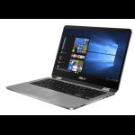 "ASUS VivoBook Flip TP401CA-BZ032T 1GHz m3-7Y30 14"" 1366 x 768pixels Touchscreen Grey Hybrid (2-in-1)"