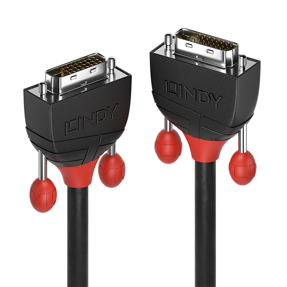 Lindy 36250 DVI cable 0.5 m DVI-D Black