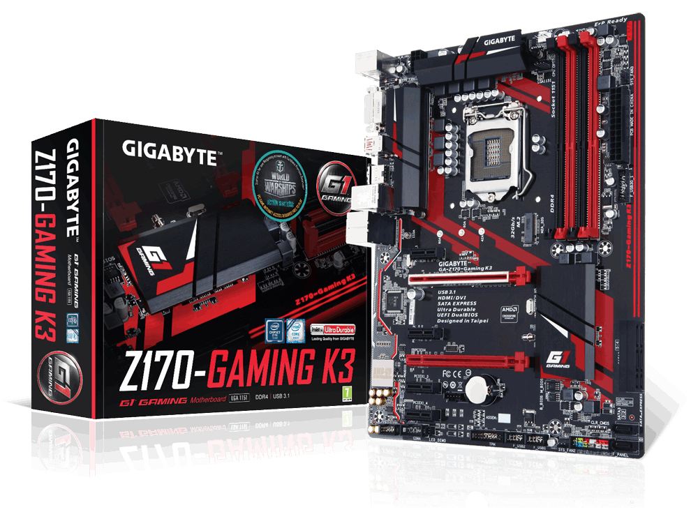 Gigabyte GA-Z170-Gaming K3-EU (rev. 1.0) Intel Z170 LGA1151 ATX