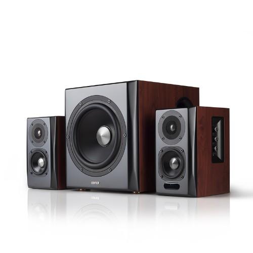 Edifier S350DB speaker set 2.1 channels 150 W Black, Wood