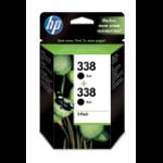 HP 338 2 stuk(s) Origineel Hoog (XL) rendement Zwart
