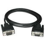 C2G 10m DB9 M/F Cable cable de serie Negro