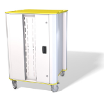 NUWCO PLASCHROME32Y portable device management cart/cabinet White,Yellow