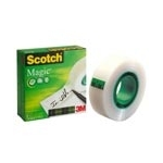 Scotch Magic Tape (3 rollen) 25m Transparent stationery/office tape