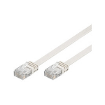 Microconnect V-UTP507W-FLAT 7m Cat5e U/UTP (UTP) White networking cable