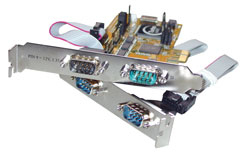 MCL PCI-e Card Serial RS-232 tarjeta y adaptador de interfaz