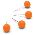 Nobo 1905329 pin/tack Orange 100 pc(s)
