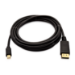 V7 Black Video Cable Mini DisplayPort Male to DisplayPort Male 3m 10ft