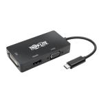 Tripp Lite USB-C Multiport Adapter – HDMI/DVI/VGA, Thunderbolt 3, Ultra HD 4K @ 30 Hz, Black