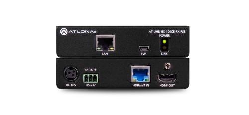 Atlona UHD-EX-100CE-RX-PSE AV receiver Black