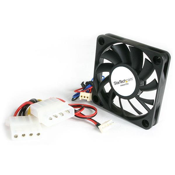 StarTech.com 50x10mm Replacement Ball Bearing Computer Case Fan TX3/LP4 Connector FAN5X1TX3