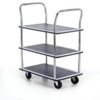 Barton Storage 3 SHELF TROLLEY SILVER/BLUEPST3
