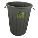 ADDIS DUSTBIN BASE RND 90LTR BLK B766GRY