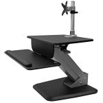 StarTech.com BNDSTSPIVOT multimedia cart/stand Black Flat panel Multimedia stand